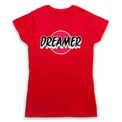 Dreamer Hipster Camiseta para Mujer Rojo