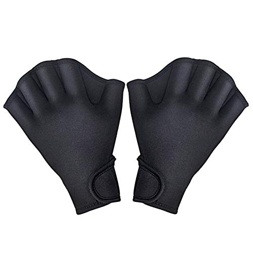 (Diving Gloves Swimming Aquatic Gloves Swim Gloves Aquatic Fitness Water Resistance Training Aqua Fit Webbed Gloves Swim Pins for Water Surfing Swimming Paddle Diving Fingerless Gloves Paddle Gloves)