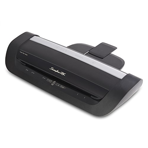 Swingline GBC Laminator, Fusion 6000L, 12 Inch, 1 Min Warm-Up, 3-10 Mil, with 50 EZUse Laminating Pouches (1703097)