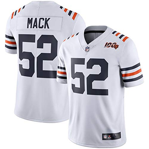 - #52 Khalil Mack Chicago Bears 2019 100th Season Alternate Classic Limited Jersey - White XXL