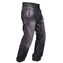 Newfacelook Mens Motorcycle Protective Lined Jeans Pants Trousers