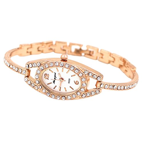 Elegant Womens Watch (Women's Elegant Minimalism Rhinestone Crystal Stainless Steel Wrist)