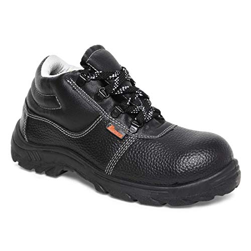 Paragon Men's Black-Grey Protective Shoes (Size-06 UK, Color : Black-Grey)
