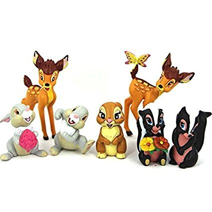 7 BAMBI THUMPER FLOWER ACTION FIGURES DOLL KIDS FIGURINES TOY CAKE TOPPER DECOR
