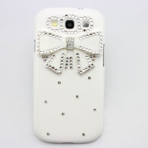 piaopiao bling 3D case bow flower diamond hard cover for Samsung Galaxy Win GT-i8552 (bow white)