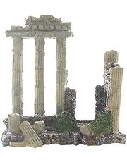 Aquarium Decoration Fish Tank Landscape Ornament Vintage Ruins Roman Column