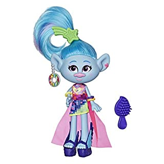 Trolls DreamWorks Glam Chenille Fashion Doll with Dress, Shoes, and More, Inspired World Tour, Toy for Girl 4 Years and Up