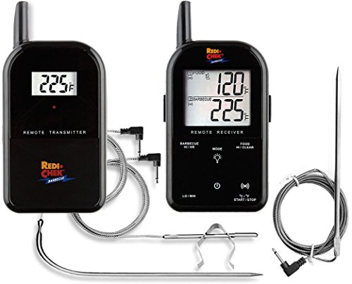 Maverick ET-732 Redi-Chek Wireless BBQ Meat Thermometer (Limited Black Edition) - Includes Extra Probe - Master the BBQ and Smoker Without Being There - Maverick Bbq Accessory