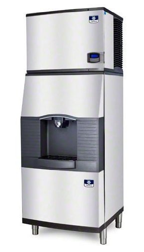 Manitowoc ID-0606W-SPA-310 661 Lb Water-Cooled Full Cube Ice Machine w/ SPA-310 Hotel Dispenser