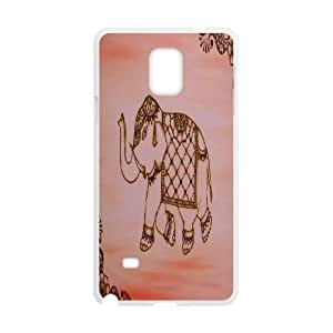 ZK-SXH - Tribal Elephant Pattern Brand New Durable Cover Case Cover for Samsung Galaxy Note 4, Tribal Elephant Pattern Cheap Cover Case