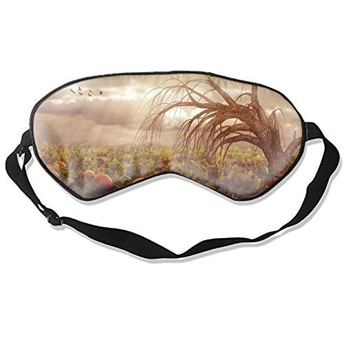 Holiday Halloween Sleep Eye Mask for Sleeping Contoured Eyemask Sleep for Travel & Night Sleep -