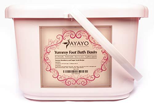 Yummy Foot Bath Basin (Pink) | Pedicure Spa | Foot Bath | Foot Massager | Athletic Foot | Eco Friendly