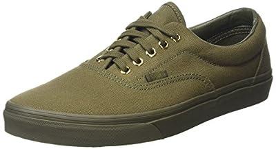 Vans Unisex Era Sneaker Ivy Green Gold Mono Size 13 M US Men