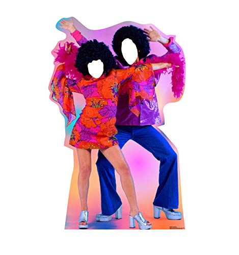 Advanced Graphics 70s Dance Couple Stand-in Life Size Cardboard Cutout Standup