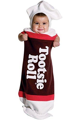Tootsie Roll Infant Costumes (Tootsie Roll Bunting Costume - Newborn)