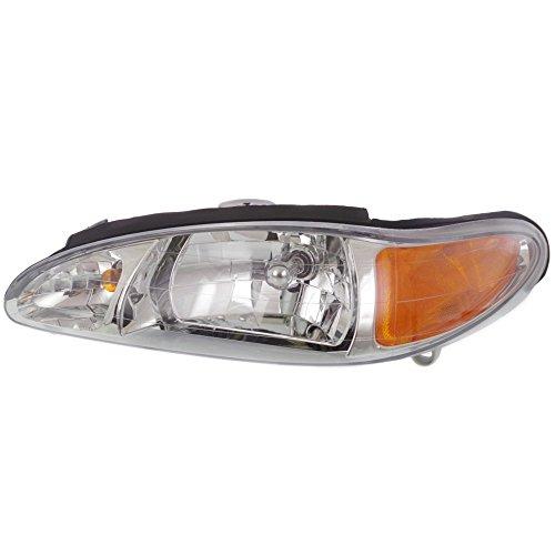 - Headlight for Ford Escort 97-02 Left Assembly Halogen W/Side Marker Lamp Sedan/Wagon