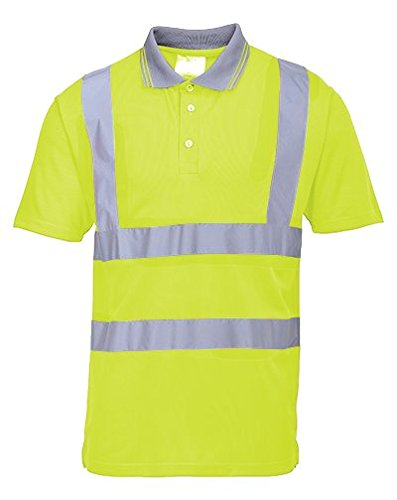 Portwest Regular Fit Hi-Vis Short Sleeve Polo Polo Polo Shirt US477YERXL e47580