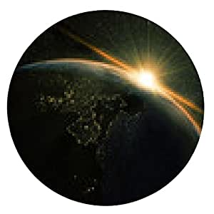 alfombrilla de ratón unrise vista de la tierra desde el espacio con Vía Láctea - ronda - 20cm