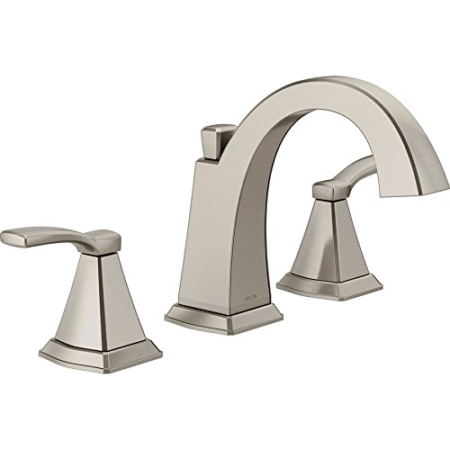 Delta Flynn Two Handel Widespread Lavatory Faucet Fits 3 Hole Sink