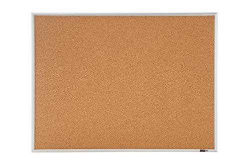 Innovart Cork Bulletin Board - Cork Board - Aluminum Frame 10 Pcs Colored Push Pin Included (18 x 24 inch)