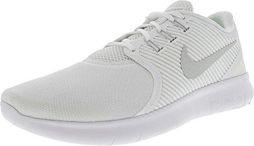 Nike Mens Free Rn Cmtr Scarpa Da Corsa Bianco / Platino Puro