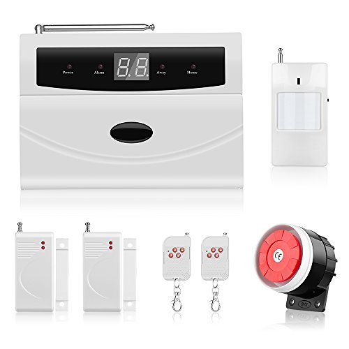 Home Alarm Security System, Thustar Wireless Home/House Business Security Alarm System, PSTN, Auto Dial, Remote Control,Motion Detectors, Wired Siren and More for Complete Security system (Pstn Adapter)