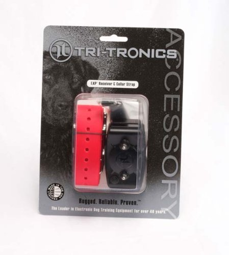 Tri-Tronics Expandable Receiver with Red Collar Strap, My Pet Supplies