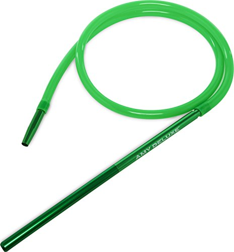Schlauchset AMY Alu Mundstück 40cm Shisha Silikonschlauch Set (Grün)