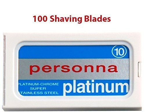 100 Israeli Personna Stainless Steel Double Edge Blades- Saf