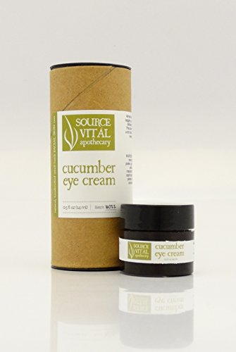 Cucumber Eye Cream From Source Vitál Apothecary - Natural Eye Cream to Hydrate, Improve The Appearance of Wrinkles, Puffiness and Dark Circles .5 Oz