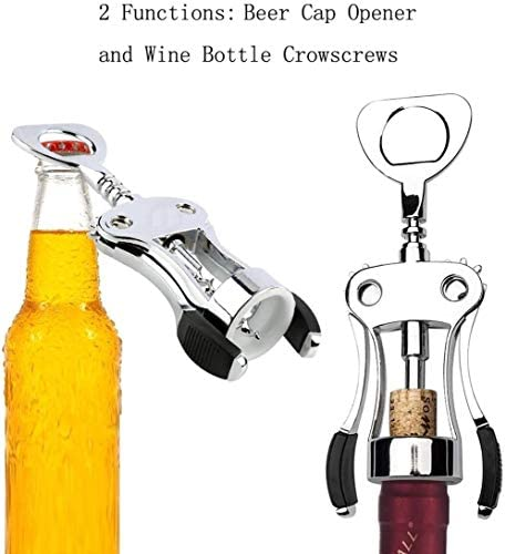 DSJJ Corkscrew Wine Opener met wijn, kurkentrekker Cork en Bier Cap Flessen Opener Remover, Gebruikt in Kitchen Restaurant Chateau en Bars