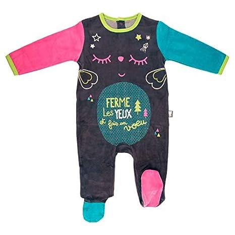 ce2e10ee4d780 Pyjama bébé velours Wish - Taille - 3 mois (62 cm)  Amazon.fr  Bébés ...