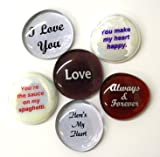 Romance Glass Stones, Set of Six