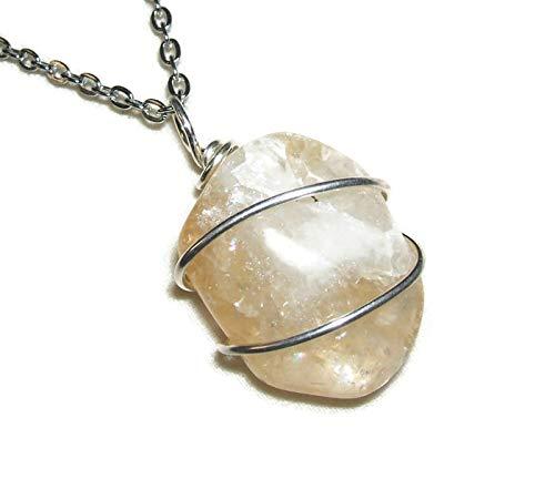 SELENITE EARRINGS Pendant STRENGTHEN CLARITY PROTECTION CHAKRAS Metaphysical Stone Silver Pltd