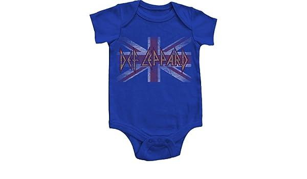 Rock And Roll Niño recién nacido bebé Creepers Pelele muchas opciones para elegir (6 Meses, Def Leppard Union Jack) color: Def Leppard Union Jack Tamaño: 6 ...