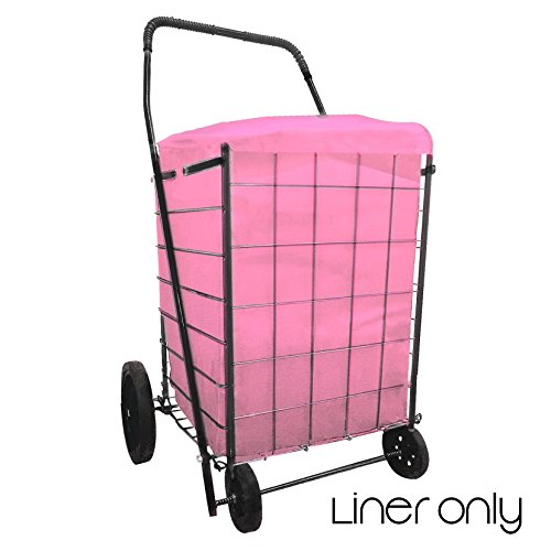 SHOPPING CART Privacy LINER Insert WATER PROOF in 6 Colors (Liner Only) (Pink)