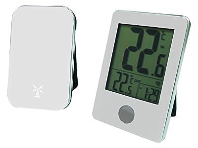 Otio thermom tre int ext sans fil blanc simplement parfait bricolage jardin - Thermometre interieur precis ...