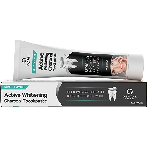 Activated-Charcoal-Teeth-Whitening-Toothpaste-DESTROYS-BAD-BREATH-Best-Natural-Black-Tooth-Paste-Kit-MINT-FLAVOR-Herbal-Decay-Treatment-REMOVES-COFFEE-STAINS-105g-370oz