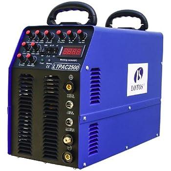 Lotos 5-in-1 LTPAC2500 250A AC/DC TIG/Stick Welder with 60A Plasma Cutter & pedal & 5 Yrs Warranty