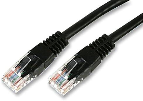 1m Black Pro Signal Cat5e RJ45 Ethernet Patch Lead