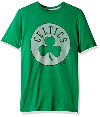 Ultra Game NBA Boston Celtics Men's T-Shirt Brushed Reflective Logo Tee Shirt, Large, Kelly Green