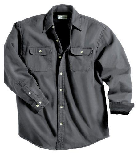 Tahoe Denim Shirt Jacket with Fleece Lining, Color: Charcoal/Black, Size: XX-Large (Coat Tahoe)