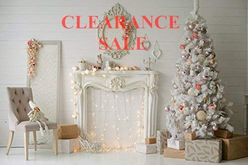 Baocicco Decorated Christmas Tree Fireplace Interior Backdrop 7x5ft Photography Background Gift Box Color Ball Child Doll Chair Lights Mirror Pray Bless Kid Baby Adult Photo Shoot