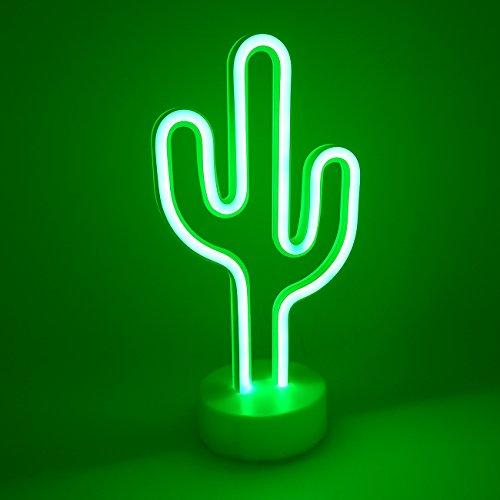 Yaeer - Señal de luz LED con Base de Soporte para casa, Fiesta, cumpleaños, recámara, decoración de Mesa, Regalos para...