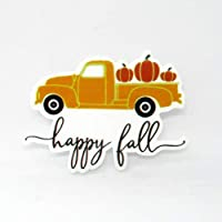 Happy Fall Orange Truck Pumpkin Resin Needle Minder