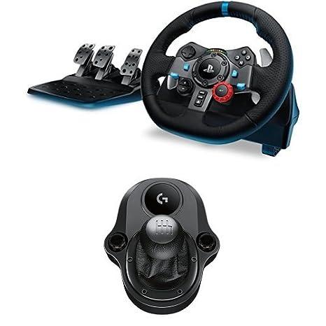 Logitech G Volante para simulación de carreras compatible con PS PS y