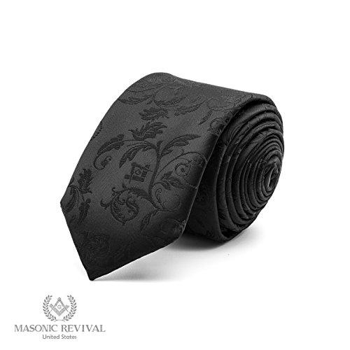 """Noche Necktie by Masonic Revival (Width: 3.25"""" Standard)"""