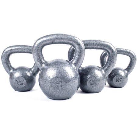 CAP Barbell Cast Iron Kettlebell Tone Fitness Weight Training and Exercise Equipment- 45lbs by CAP Barbell (Image #1)