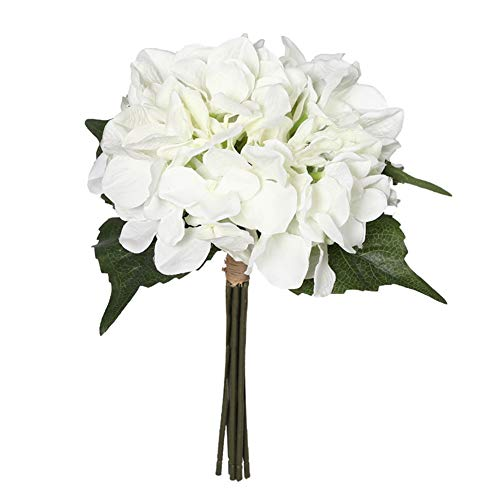 Charmly Artificial Silk Hydrangea Flowers 6 Heads Bouquet Wedding Home Decoration Approx 7
