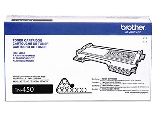 Brother Genuine Brand Name, OEM TN450 (TN-450) Black Toner Cartridge (2.6K YLD)